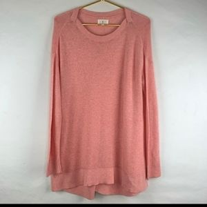 Lou & Gray Blush Pink Oversize knit Tunic Top MED